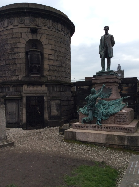 Hume's and Abraham Lincoln Scottish soldier monuments,