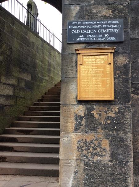 Old Calton Cemetery, Calton Hill, Edinburgh, 2014 Amy Cools.JPG