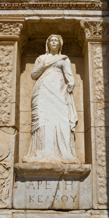 Statue of Arete in Celsus' Library in Ephesus by Carlos Delgado, Creative Commons Licence CC BY-SA 3.0