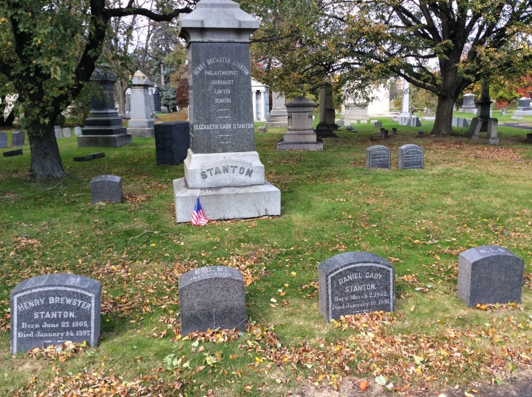 Elizabeth Cady Stanton and Family Gravestones at Woodlawn Cemetery, New York City, Photo 2014 by Amy Cools