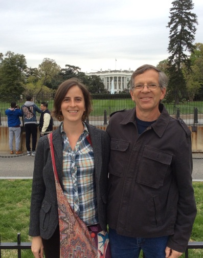 Amy Cools with father John Cools in front of the White House, photo 2015 by Amy Cools.jpg