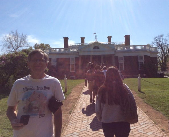 John Cools and tour group at Monticello, 2015 by Amy Cools