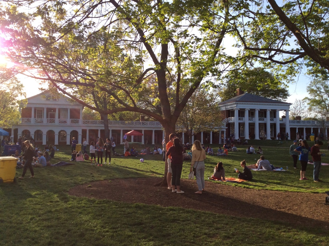 Students attending festivities in The Lawn at the University of Virginia, 2015 Amy Cools.JPG