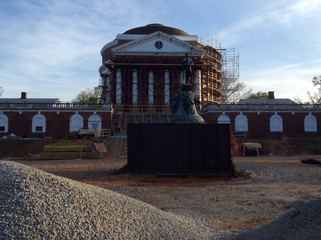The Rotunda at the University of Virginia, undergoing extensive renovation, 2015 Amy Cools.JPG