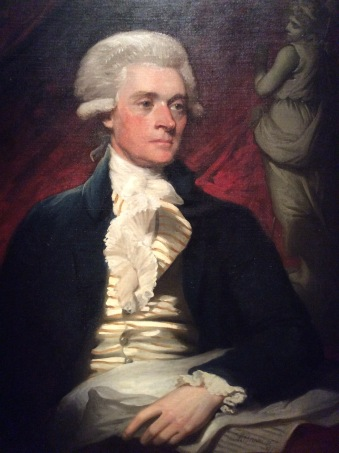 Thomas Jefferson portrait by Mather Brown, at Washington DC portrait gallery, photo 2016 by Amy Cools