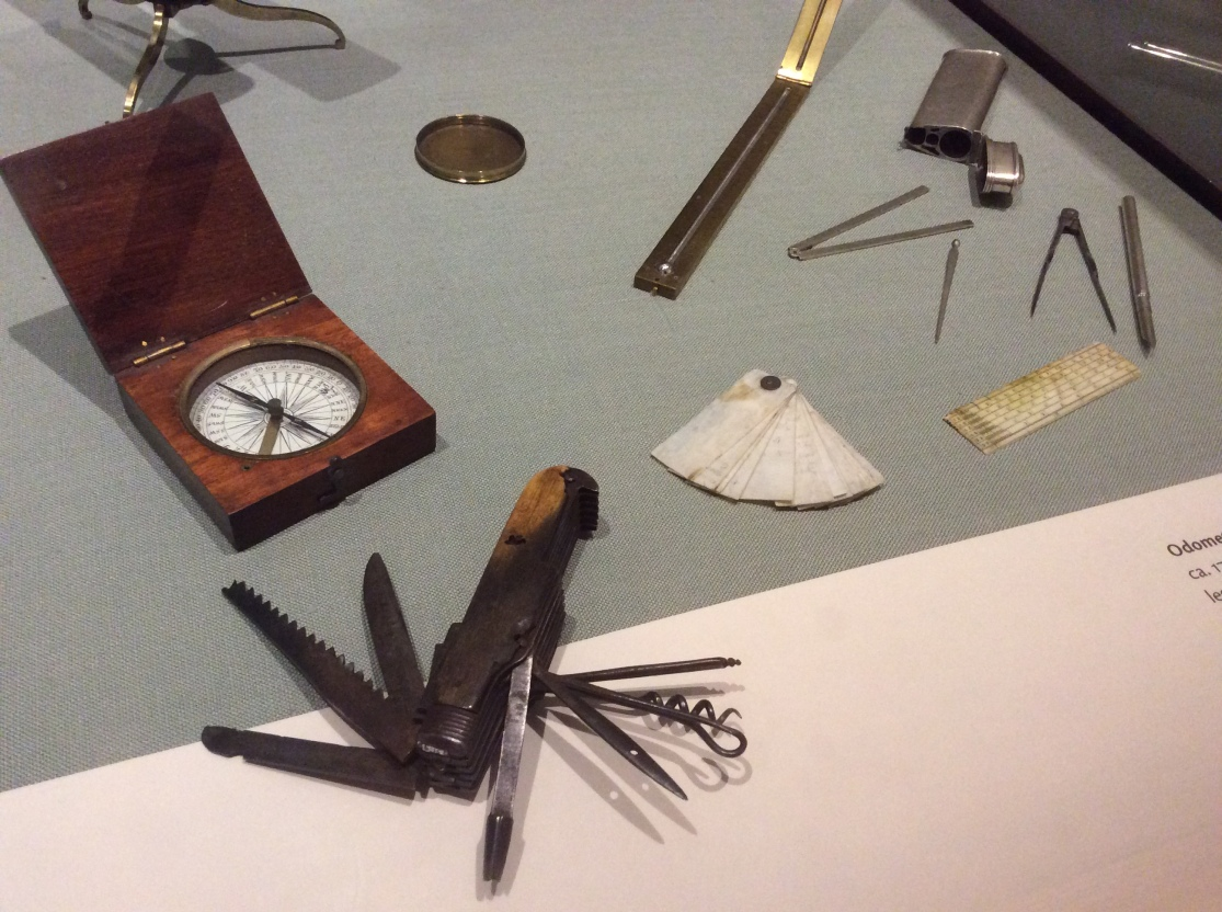 Thomas Jefferson tools and gadgets on display at Monticello museum, 2015 by Amy Cools