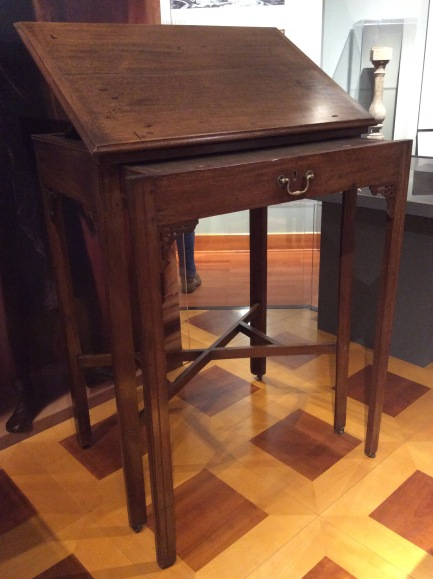 Thomas Jefferson's standing desk, in the Monticello museum, photo 2015 by Amy Cools