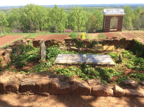 Uriah Phillips Levy's mother's gravesite on Mulberry Row, Monticello, 2015 by Amy Cools
