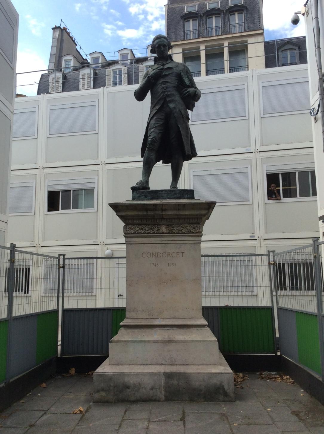 Statue of Condorcet on the Quai de Conti, France, Photo 2015 by Amy Cools