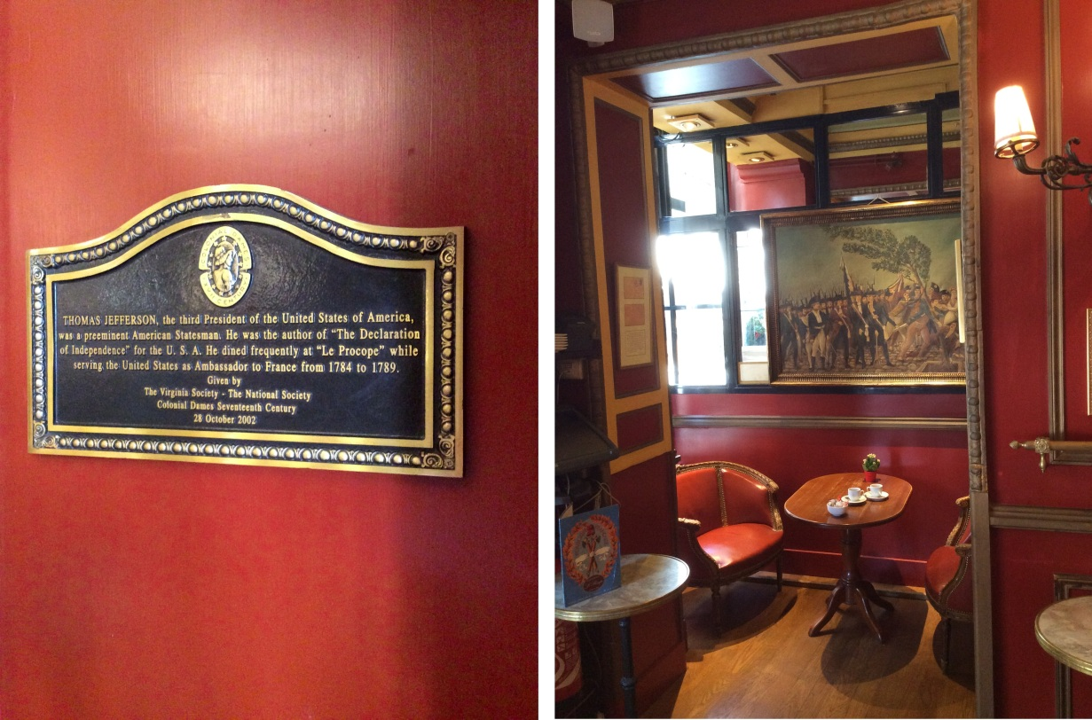 thomas-jefferson-plaque-and-upstairs-dining-nook-at-cafe-procope-paris-2015-amy-cools