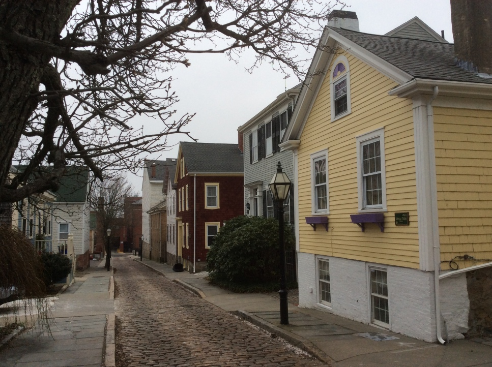 1830's houses on Mechanics Lane, off 8th and parallel to Elm St, New Bedford MA