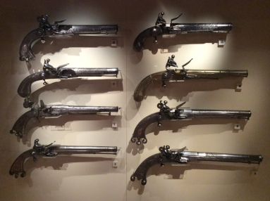 Guns at the National Museum of Scotland, Edinburgh, Photo by Amy Cools May 2014