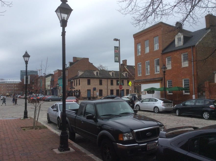 A view of Thames St, Fell's Point, Baltimore MD, photo 2016 Amy Cools