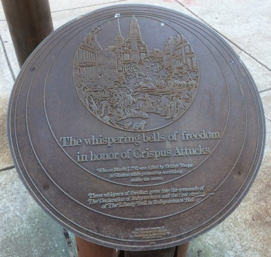 Plaque honoring Crispus Attucks, at Philadelphia's African American Museum