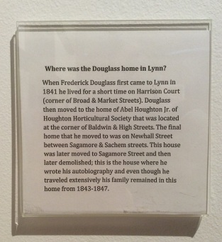 Douglass family homes in Lynn, MA, Lynn Museum & Historical Society placard