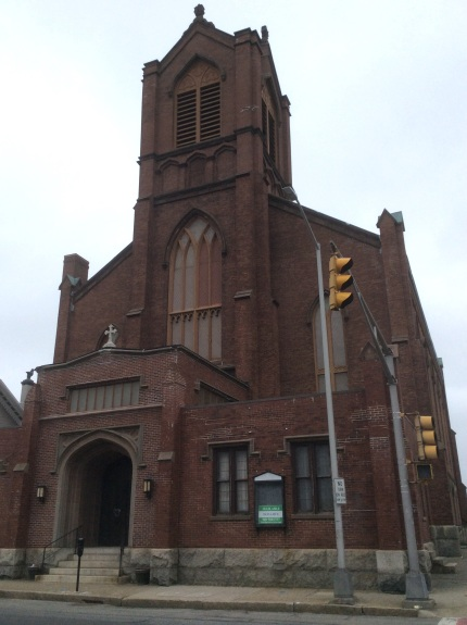 Former Methodist Church at Elm and County Streets, New Bedford MA