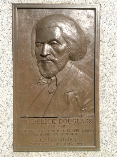 Frederick Douglass Memorial plaque in Lynn Commons, photo 2016 by Amy Cools