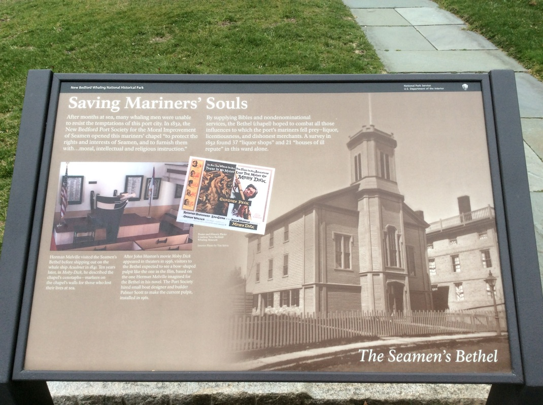 Historical sign for Seaman's Bethel, New Bedford MA