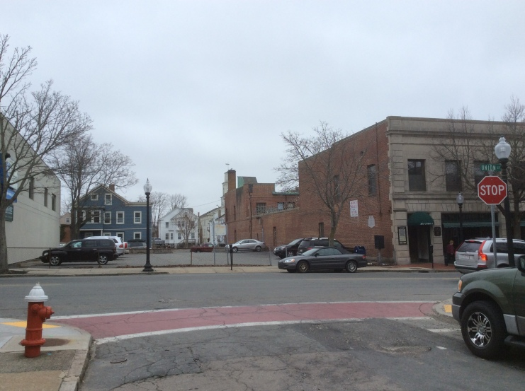 Site of Joseph Ricketson's house on the north side of Union at 7th St, New Bedford MA