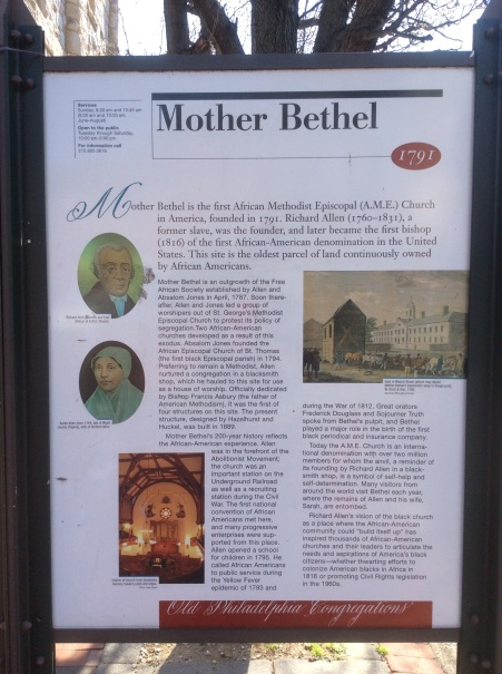 Mother Bethel historical sign, Old City Philadelphia
