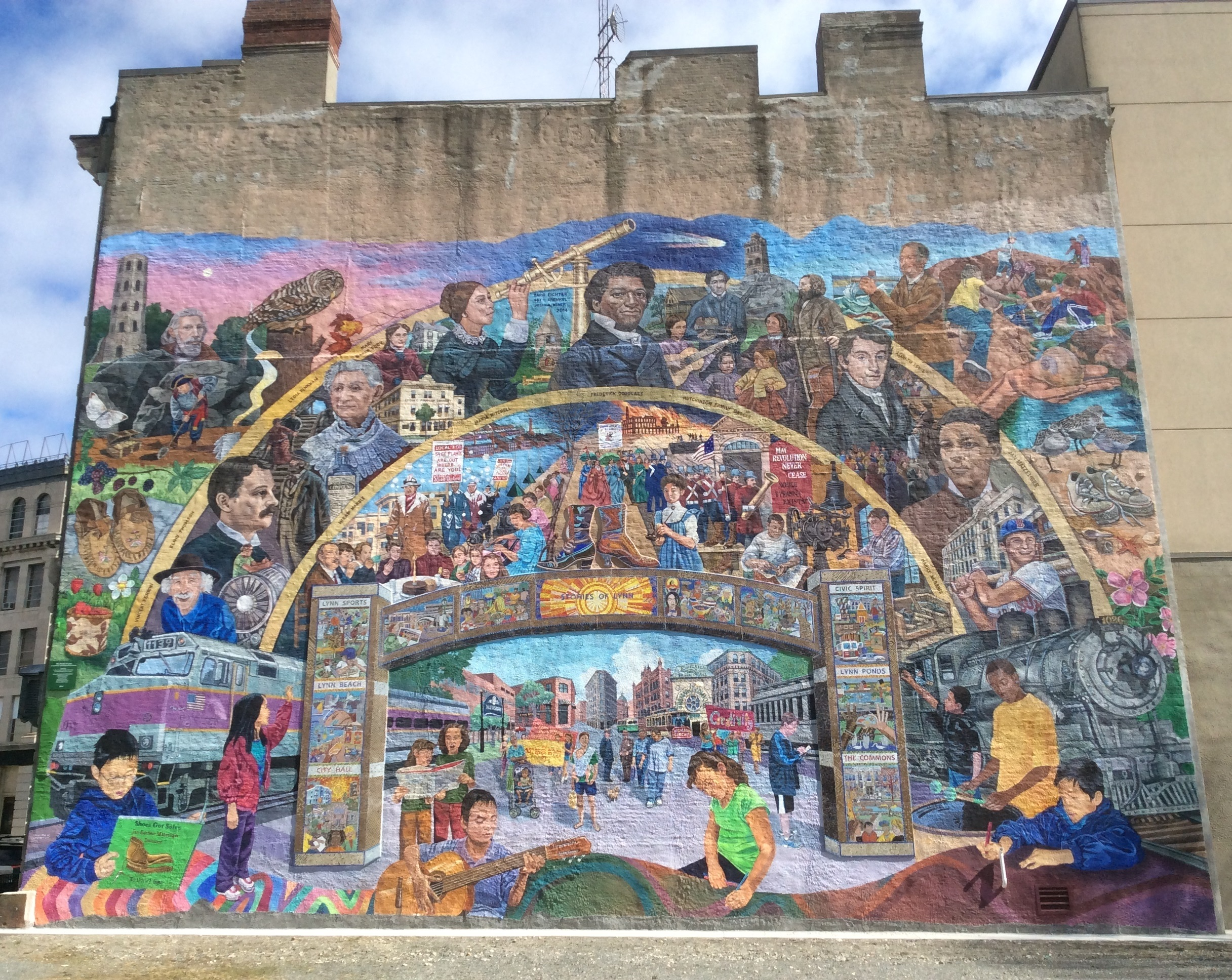 frederick douglass lynn massachusetts sites ordinary philosophy mural on wall of lynn s greats on the side of lynn arts building crowned by