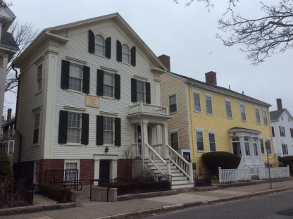 Nathan and Polly Johnson House (and adjoining) at 21 Seventh St, New Bedford MA, 2016 Amy Cools