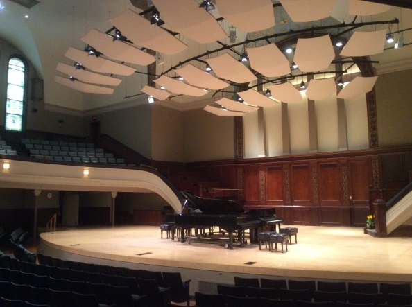 Old Central Presbysterian Church sanctuary as Hochstein Music School theater today, 2016 Amy Cools.JPG