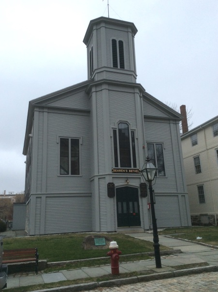 Seaman's Bethel in New Bedford Massachusetts, featured in Melville's Moby-Dick