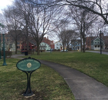 Susan B. Anthony Square, Rochester NY, photo 2016 by Amy Cools