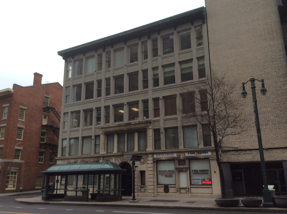 Talman Building at 25 E Main St, Rochester NY, where Douglass published the North Star