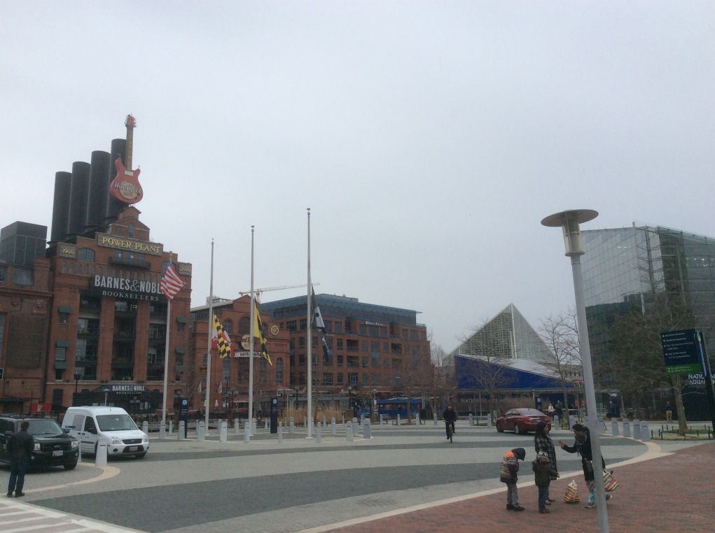 Wharf at Gay and Pratt, formerly Smith's, Inner Harbor, Baltimore MD, photo 2016 Amy Cools