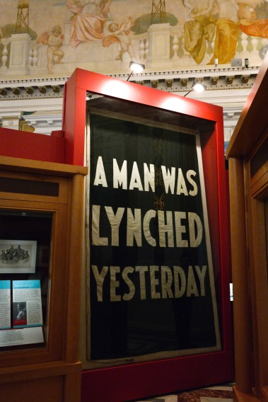 A Man Was Lynched Yesterday 1930's NAACP flag, Thomas Jefferson Building, Library of Congress