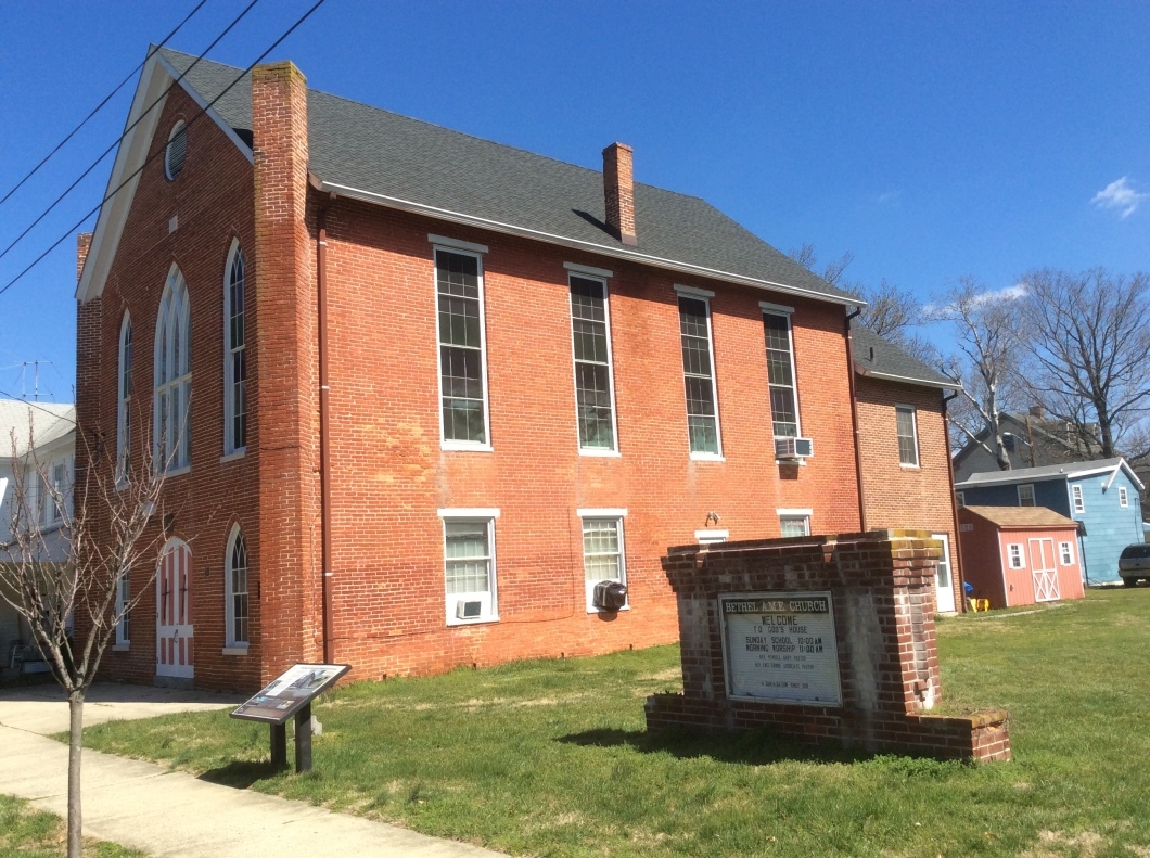 Bethel African Methodist Episcopal Church in Easton, MD at South & Hanson Sts