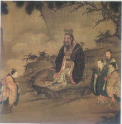 confucius-teaching-hillside-painting