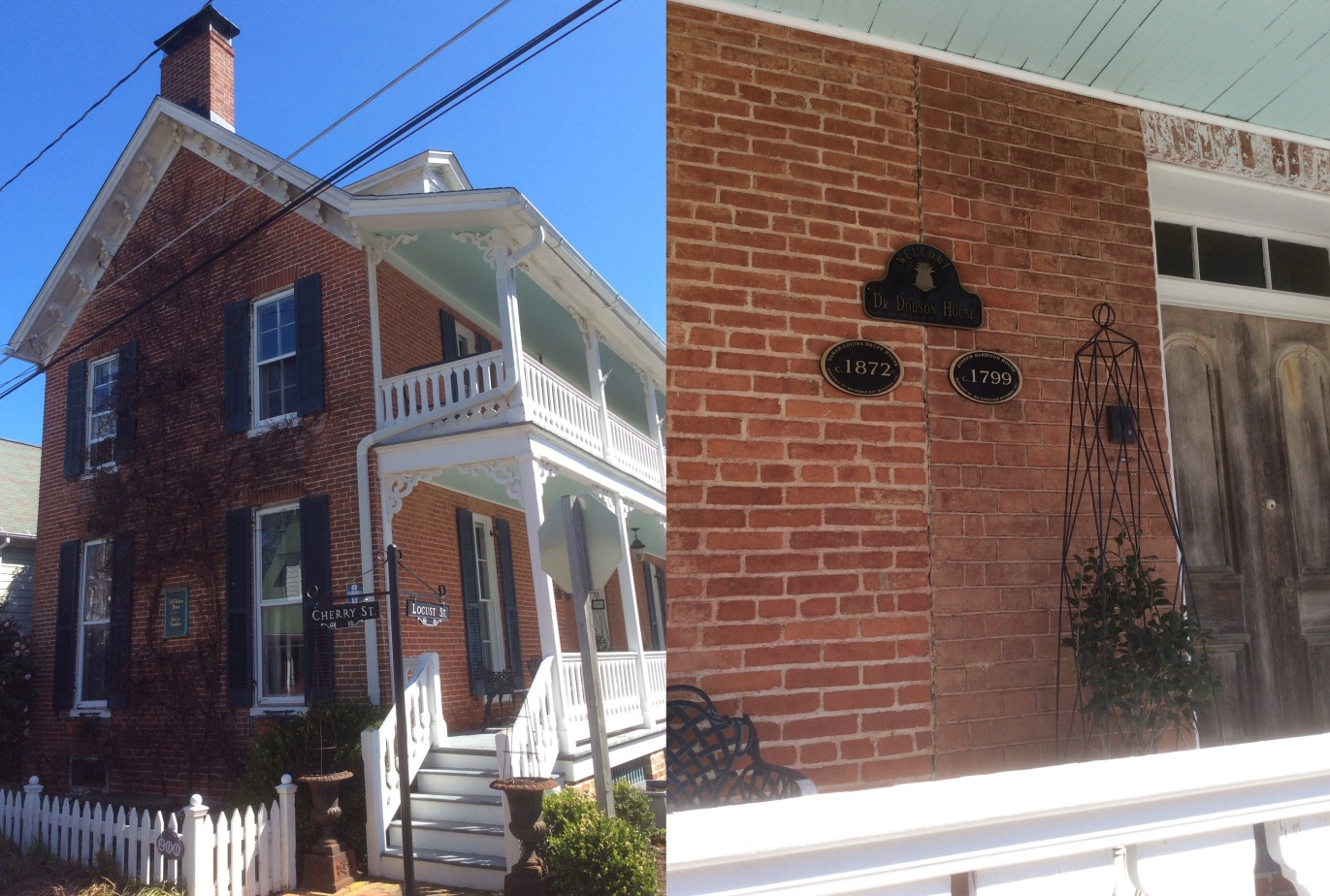 Dodson House, two views, site of 1877 Auld and Douglass reconciliation