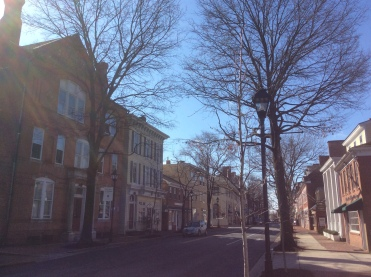 Easton, MD on a bright spring morning in March, photo 2016 by Amy Cools