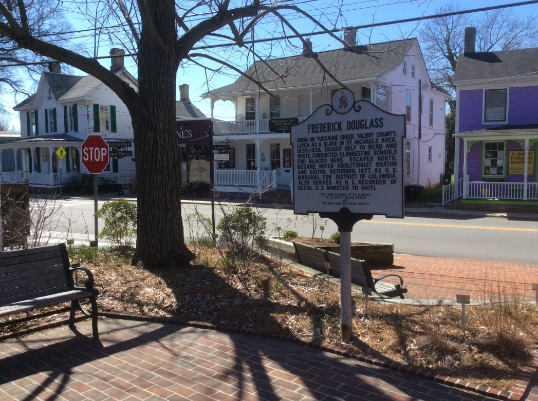 Frederick Douglass sign, St. Michaels, MD