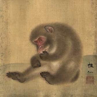 japanese monkey painting