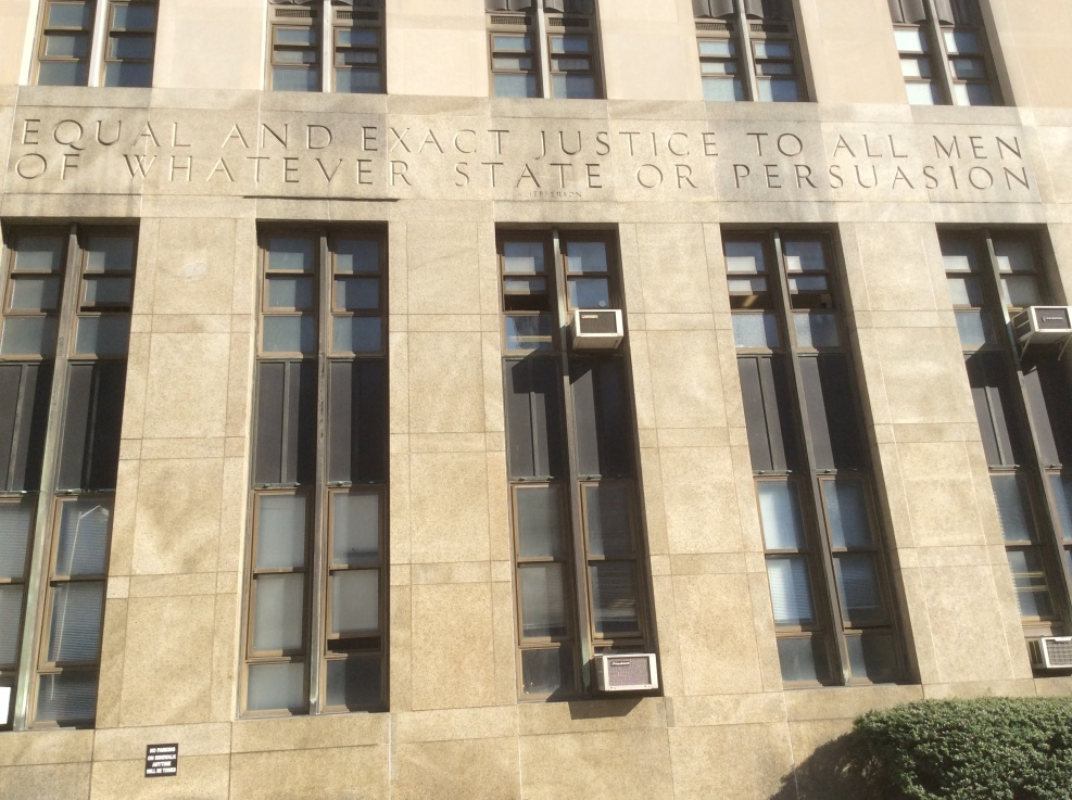 Jefferson quote on the New York City Criminal Courts Building