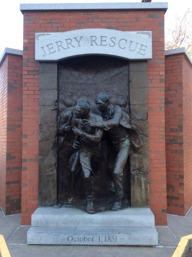 Jerry Rescue Monument, Syracuse NY, photo 2016 by Amy Cools