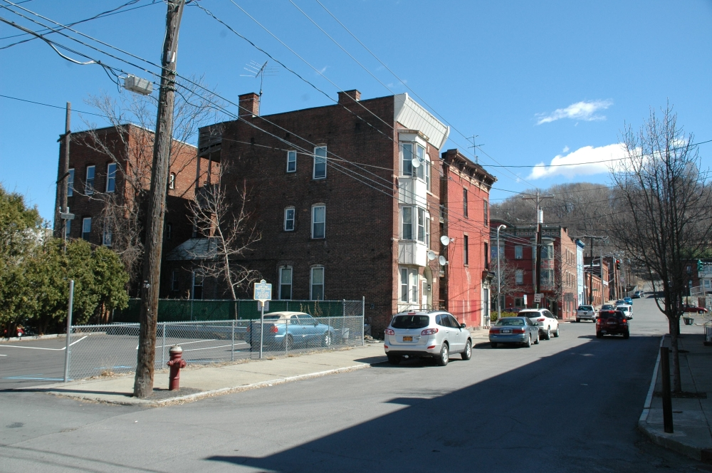 Liberty Street Presbyterian Church Site (according to historical marker), photo by Howard C. Ohlhous 2016
