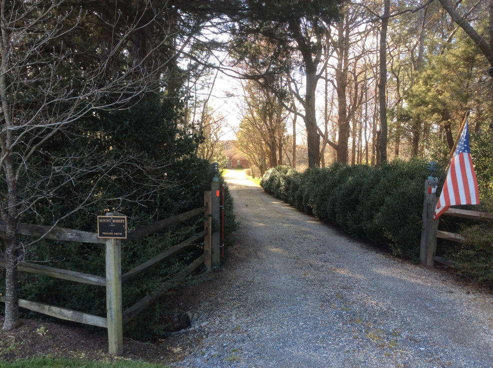 Entrance to Mt. Misery, formerly Edward Covey's farm, St Michaels MD