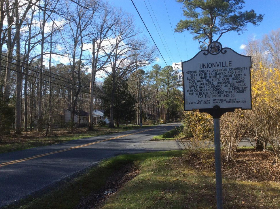 Unionville on Maryland's Eastern Shore, a settlement of black Union army veterans and freed black people