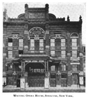 Wieting Opera House on Clinton Square in Syracuse, New York, 1898