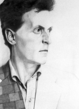 Drawing of Ludwig Wittgenstein by Christiaan Tonnism, Pencil on board 1985, Creative Commons via Wikimedia Commons