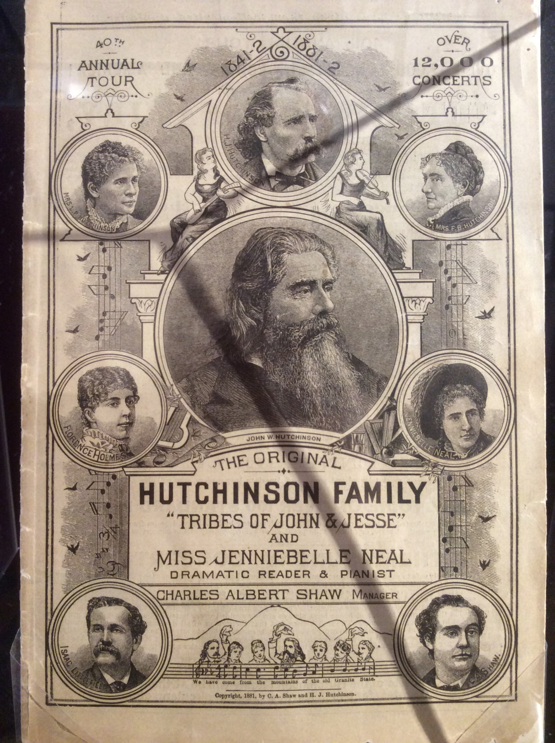 Hutchinson Family Singers Poster, Lynn Museum, 2016 Amy Cools