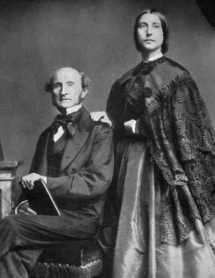 John Stuart Mill and Helen Taylor, daughter of Harriet Taylor, collaborated with Mill after her mother's death, public domain via Wikimedia Commons