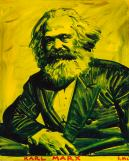 Marx by Sam Kaprielov, 76x61cm, oil on canvas, 2015, image used by permission of the artist