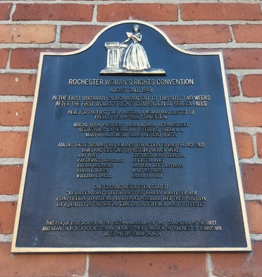 1848 Rochester Women's Rights Convention plaque, Downtown United Presbyterian Church