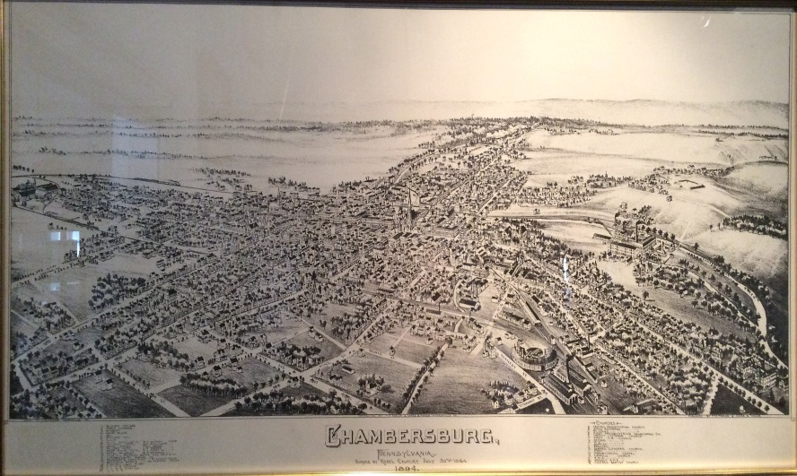 Chambersburg Map of 1894, Old Jail, Franklin County Museum, 2016 A Cools